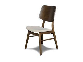 York Coffee Oak Wood Back Chairs  Set of 2  Retail 184 49