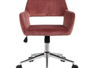 FurnitureR Velvet Fit up Office Chair   Ross Red