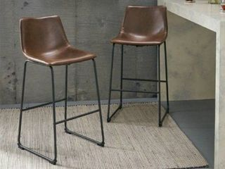 Carbon loft Diggory 30 inch Faux leather Barstool  Set of 2    Retail 141 00
