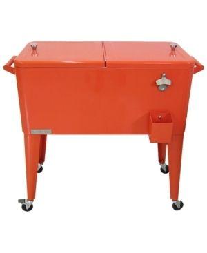 Permasteel 80 Qt  Patio Cooler  Orange  Retail 194 49 Damaged  Small Scratch on lid