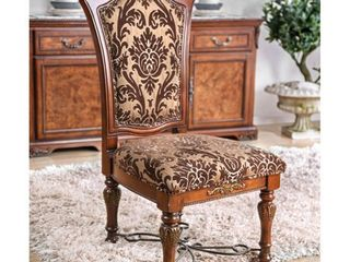 Furniture of America Nald Traditional Brown Dining Chairs  Set of 2  Verified  Retail 615 49