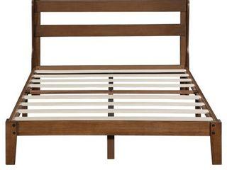 Sleeplanner 12 Inch Wood Platform Bed with Headboard  Retail 317 99