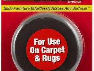 Super Sliders 4 Pack 3 1 2 Round Non Adhesive Backed Reusable Plastic Carpet Slider