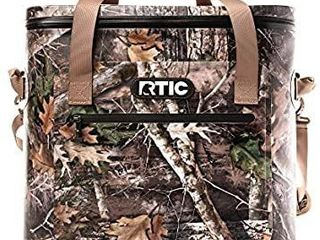 RTIC Insulated Soft Cooler Bag  leak Proof Zipper  Keeps Ice Cold for Days  40