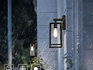 Outdoor Wall lantern  Exterior Waterproof Wall Sconce light Fixture  Matte Black Anti Rust Wall Mount light with Clear Glass Shade  E26 Socket Wall lamp for Porch Entryway Doorway  Bulb Not Included