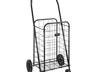 DMI Shopping Trolley  Folding Shopping Cart  Compact  lightweight Folding Cart  Black