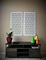 VIMA  Pineapple  CNC Engraved Decorative Wall Screen Panel 24 x 48 x 1 2  White Color Made of PVC Rigid Board
