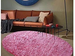 Furug Round Faux Sheepskin Fur Area Rug Ultra Soft Fluffy Carpets for Bedroom living Room Floor Rugs Sofa Mat Dormitory Home Decor Children Play