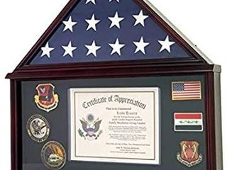 Decomil   large Military Shadow Box Frame Memorial Burial Funeral Flag Display