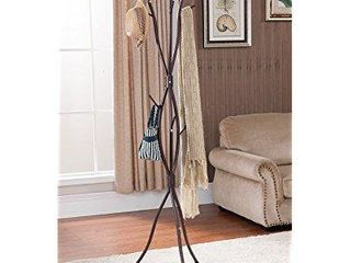 Kings Brand Bronze Finish Metal Tree Branches Coat   Hat Rack Stand