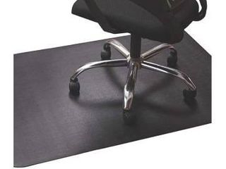 Office Chair Mat for Hardwood and Tile Floor  Black  Anti Slip  Non Curve  Under the Desk Mat Best for Rolling Chair and Computer Desk  47 x 35 Rectangular Non Toxic Plastic Protector  Not for Carpet