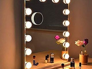 Fenair large Vanity Mirror with lights   USB Charging Port   Hollywood Style Makeup Vanity Mirror 3 Color lighting Model  Cosmetic Mirror with 14 Dimmable Bulbs for Dressing Table  24 5x20 5