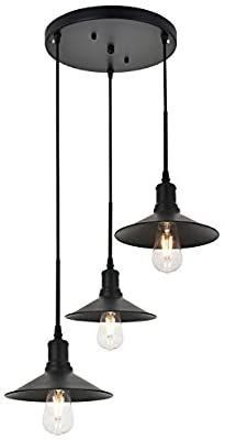 TODOlUZ Industrial Cieling light Black Finish