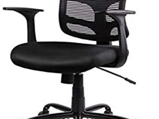 Smugdesk 0581F Ergonomic Office Mesh Computer Desk Swivel Task Chair with Armrests and lumbar Support  Black