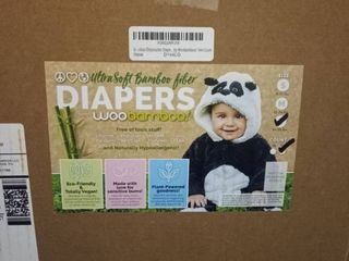 Bamboo Disposable Diapers By WooBamboo   144 Count   20 29 lBS