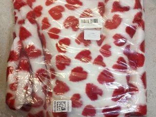 Furug Soft Fluffy Faux Blanket with hearts