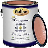 Renaissance Chalk Finish Paint   Aegean Coral Gallon  128oz    Chalk Furniture   Cabinet Paint   Non Toxic  Eco Friendly  Superior Coverage
