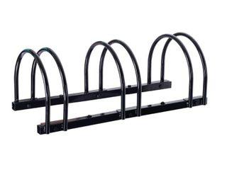Edsal Manufacturing BR4205 3 Bike Standing Bike Stand  Black