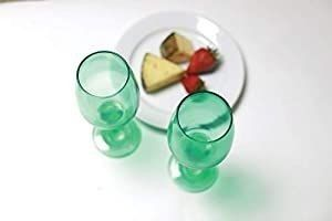 Circleware 44836 Uptown Wine Glasses  Set of 4 All Purpose Elegant Entertainment Party Beverage Glassware Drinking Cups for Water  Juice  Beer  liquor  Whiskey and Bar Dining Decor  13 oz  Emerald