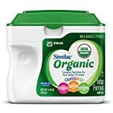 Similac Advance Organic Infant Formula with Iron  Powder  23 2 Ounces  Pack of 6  expires October 10 2020