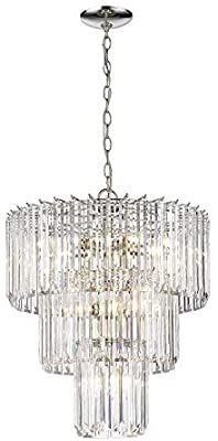 Odeums Modern Crystal Chandelier  Flush Mount Ceiling light Fixture  Pendant lamp lights for Dining Room  living Room