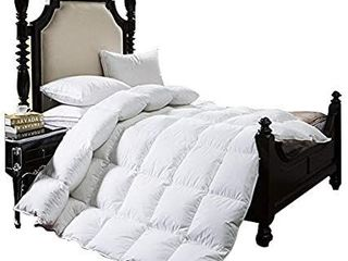 BTWZM luxurious Goose Down Comforter Queen Duvet Insert Solid White