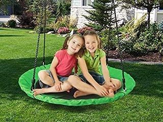 YEEGO DIRECT Saucer Tree Swing  40 inch 900D 700lbs Oxford Outdoor Kids Swing Seat with Straps Steel Frame Flying Rope Round Swing