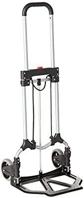 Magna Cart S SB Ideal Personal MCI Folding Steel Hand Truck  Silver Black