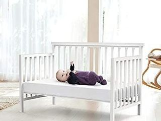 Dourxi Crib Mattress and Toddler Bed Mattress  Dual Sided Sleep System  Firm Side for Infants and Plush Soft Side for Toddlers  Breathable Foam Baby Mattress with Removable Cover