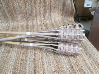 Lot of (5) Tiki Torches With Heavy ...