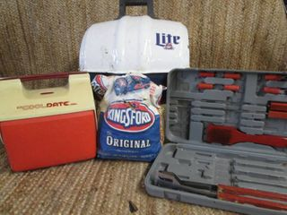 Miller Lite Keg-A-Que Charcoal Port...