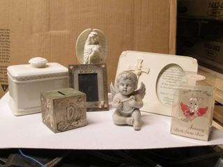 Baby Keepsakes, Bank, Frames, Angel...