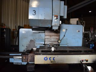 OKK MCV860 Vertical Machine Center s/n,177, Mfg. #MA67066A9, 30 ATC w/Tool holdersTableWork Surface: 90.55