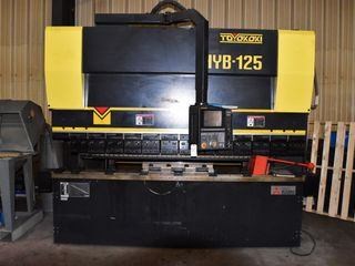 Mitsubishi Toyokoki HYB-125 Press Brake (2007) Mfg # 7004735, 125-Ton, stroke length 200mm, table length 3000 mm,gap depth 410mm,