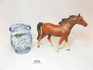 Vase  Horse   made in Japan