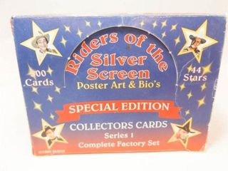 Riders of the Silver Screen Cards   Full Box