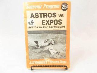 1969 Astros Souvenir Program  Astrodome
