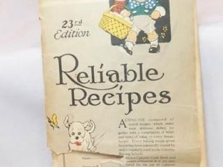 Calumet Reliable Recipe Book  23rd Edition