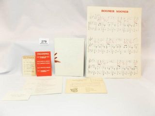 University of Oklahoma Items   40 s  50 s 70 s