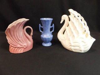 Niloak Swan  Swan Planter  Blue Vase