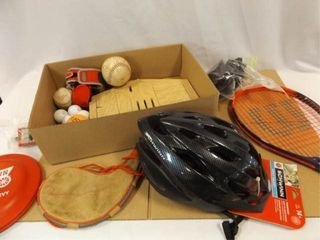 Athletic Items   new Schwinn Helmet  Balls  More
