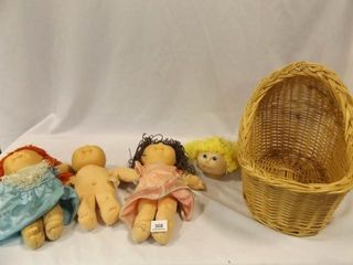 Cabbage Patch Dolls  Head  Basket