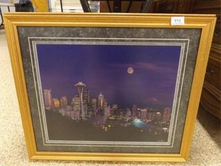 Seattle Framed Photo   27  x 22