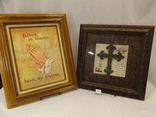 Framed Art  Faith Theme