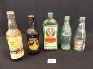 Vintage Bottles  one with Contents  5