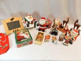 Santa  Reindeer Figurines  Tins  More  12