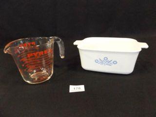 Pyrex Casserole Dish  Pyrex Measuring Cup