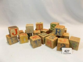 Wood letter   Number Blocks  13 4   20