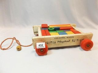 Playskool Col o rol Wood Wagon  Blocks