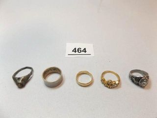 Rings  5  one is 14K   79 Kremlin  OK Class Ring